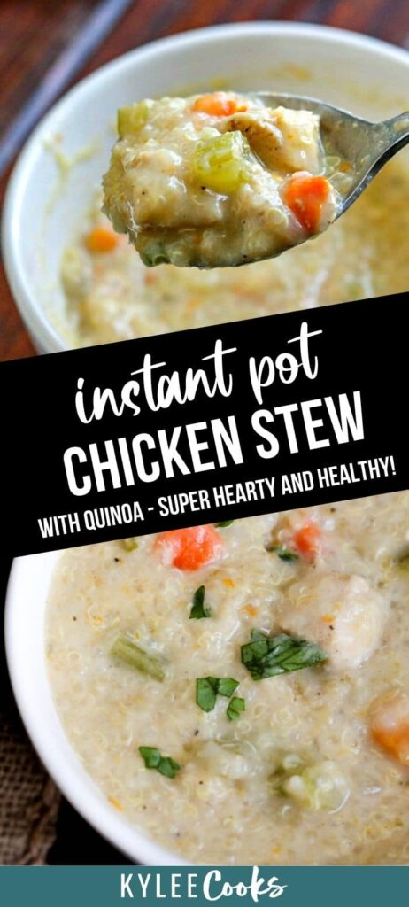 instant pot chicken stew pin with text overlay