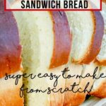 Buttermilk Sandwich Bread pin with text overlay