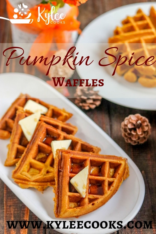 Make these homemade Pumpkin Spice Waffles a part of your Fall breakfast tradition. With their warm spices and yummy pumpkin they're a must make!