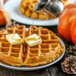 Pumpkin-Spice-Waffles-Whole-Syrup-Pouring