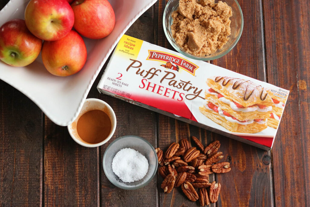 Brown Sugar Pecan Apple Tart - ingredients