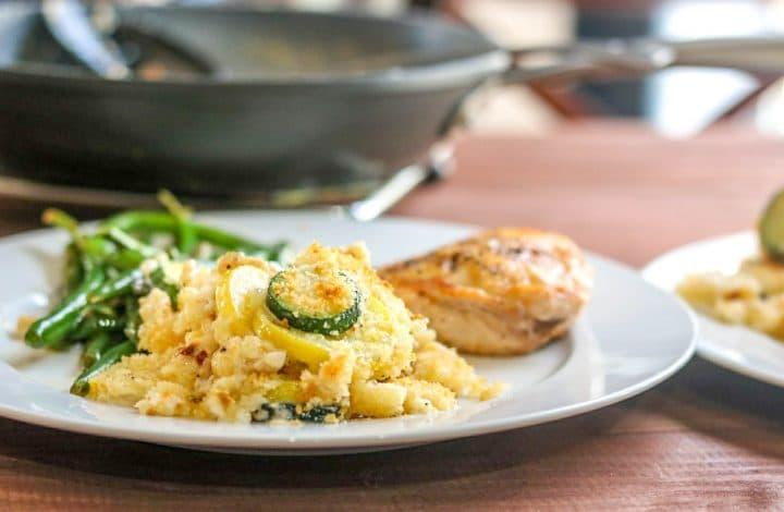 Garlic Thyme Squash Au Gratin
