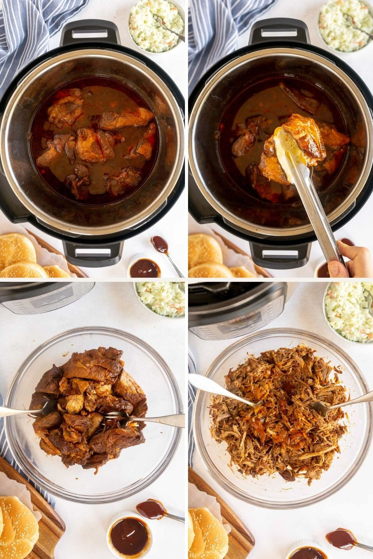 step by step making instant pot pulled pork