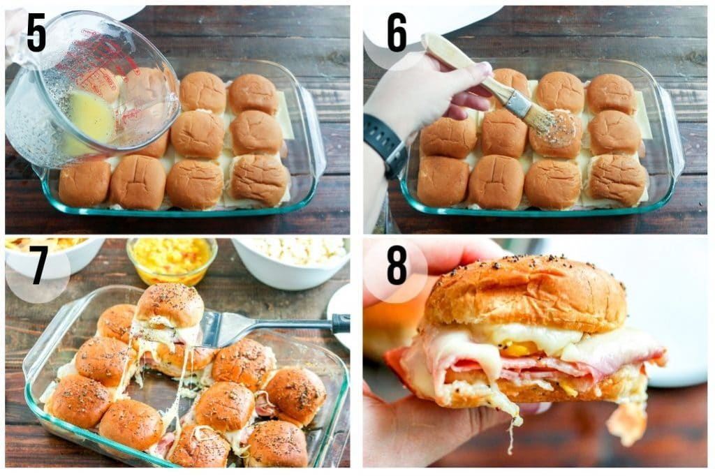 How to make ham and cheese sliders - step by step instructions