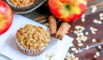 Low Fat Apple Oatmeal Muffins