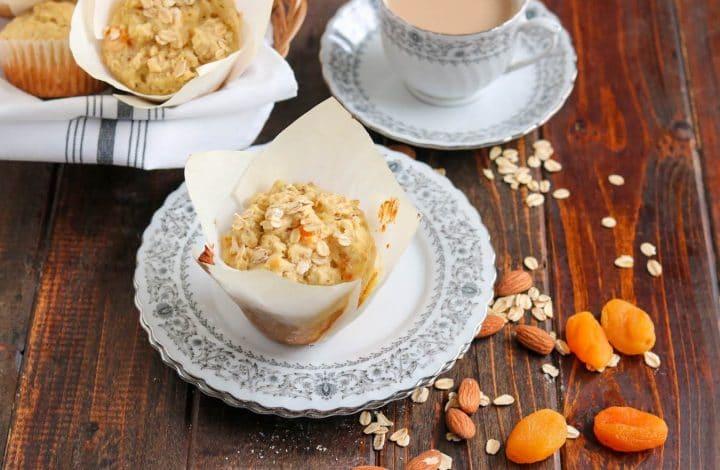 Apricot Almond Oatmeal Muffins