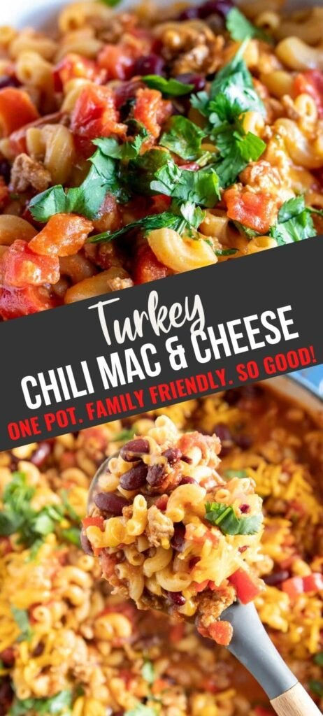 Turkey Chili Mac pin with text overlay