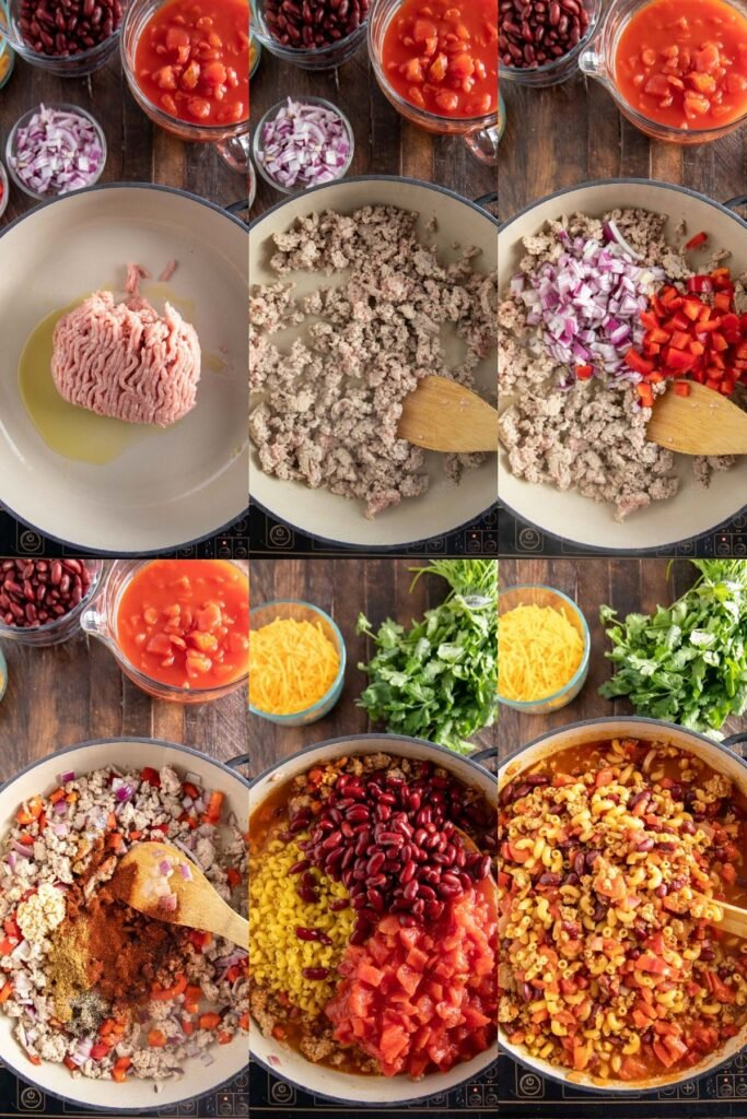 how to make chili mac in step by step pictures