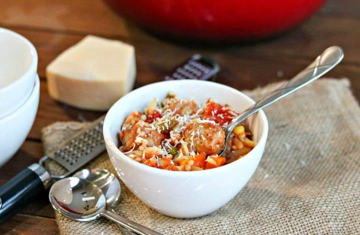 Chunky Italian Meatball Soup