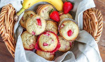 Fresh Strawberry Banana Muffins