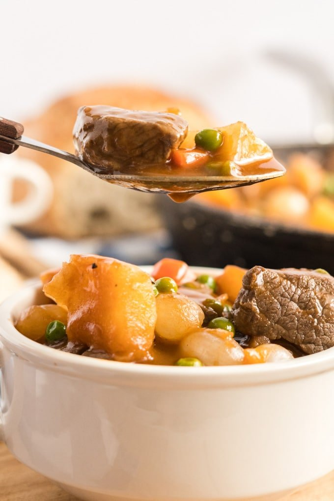 a spoonful of guinness beef stew