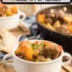 guinness beef stew with text overlay