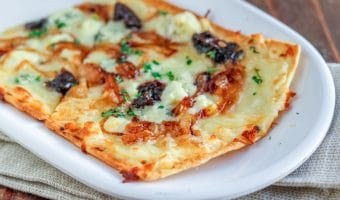 Grilled Onion, Blue Cheese & Prune Flatbread