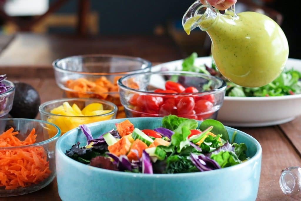Get your salad on! Try this fruity, spicy, sweet & DELICIOUSMango Jalapeno Salad Dressing on your summer salads.