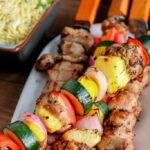 Roasted Garlic & Black Pepper Grilled Pork Kabobs