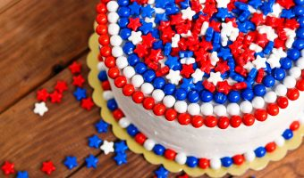 Celebration Red White & Blue Cake