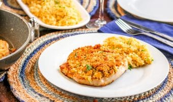 Blue Cheese Crusted Pork Chops