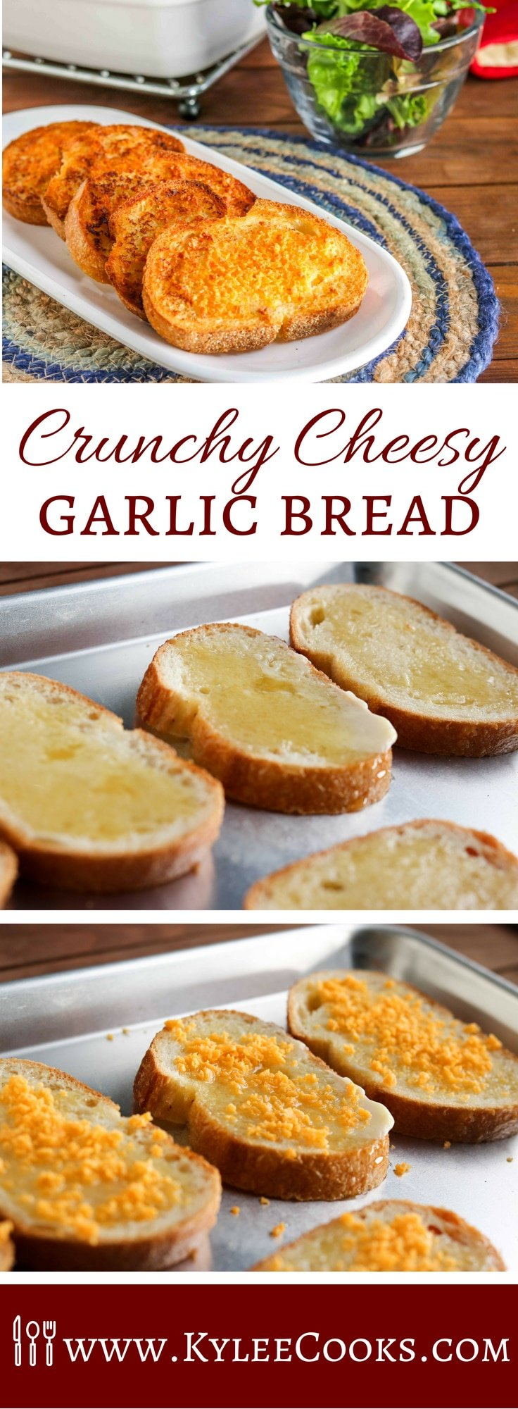 Want a fresh new (and crunchy) take on an old favorite? Check out my crunchy cheesy garlic bread. I challenge you to try to eat just the one slice! #momblogtourFF #MoonCheese @mooncheesesnack #ad