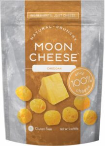 Package of Cheddar Moon Cheese.