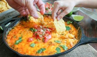 Easy Queso Dip Recipe (in a skillet)
