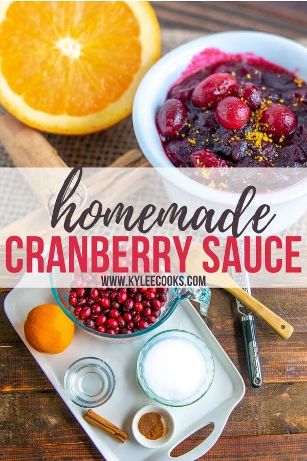 Cranberry Sauce pin with text overlay
