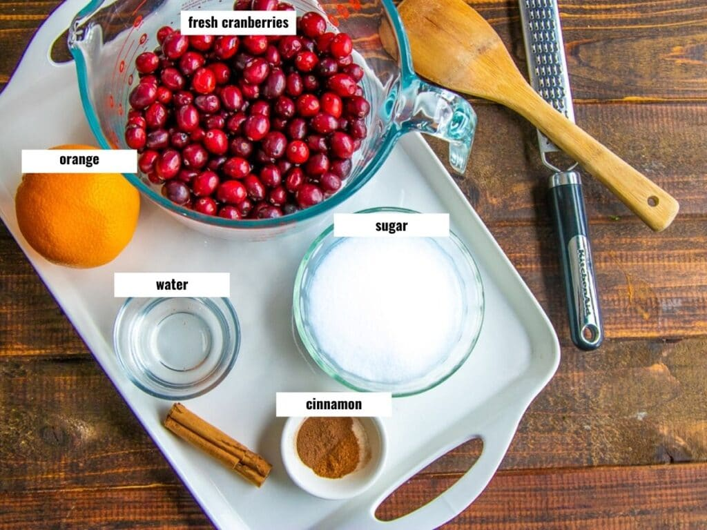 ingredients laid out