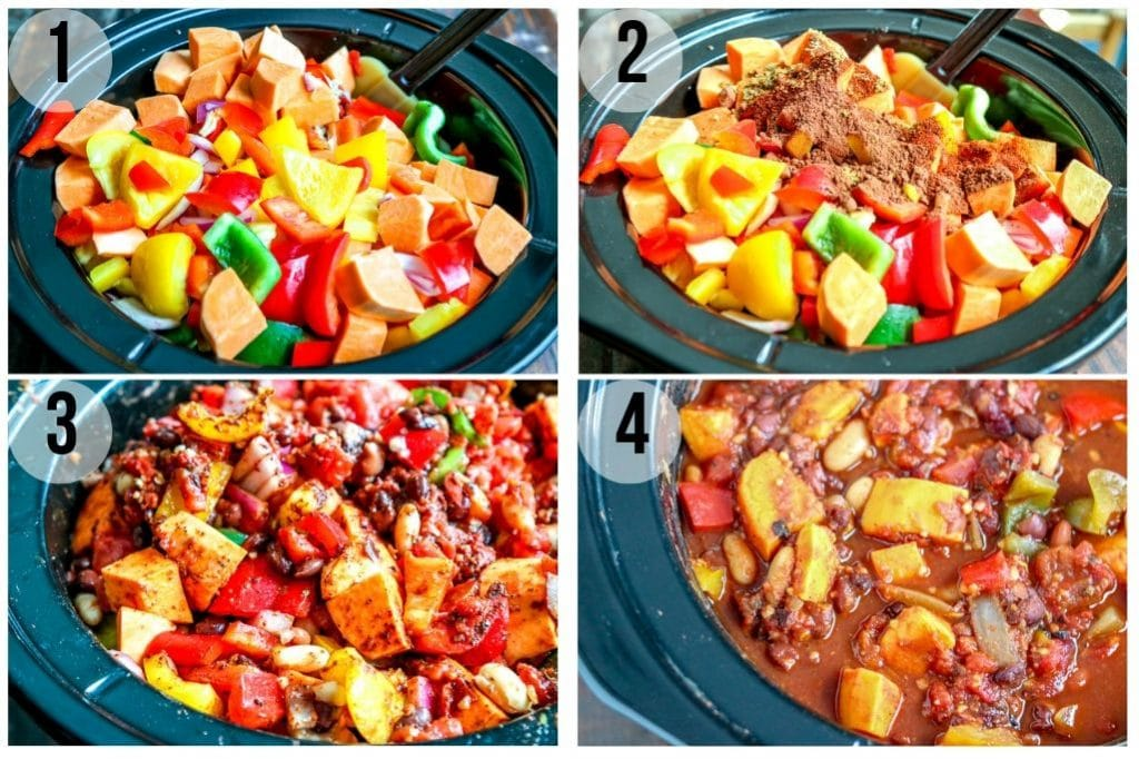 Vegetarian Chili (Crockpot) INGREDIENTS
