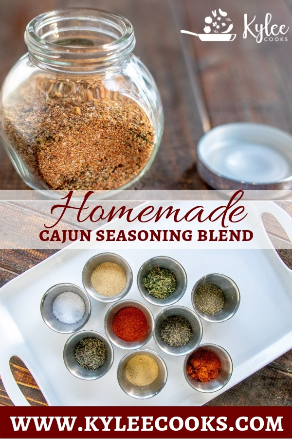 Ditch the expensive store-bought jars, and blend your own Homemade Cajun Seasoning! Super easy, and keeps well in an airtight jar #homemeade #spiceblend #cajun