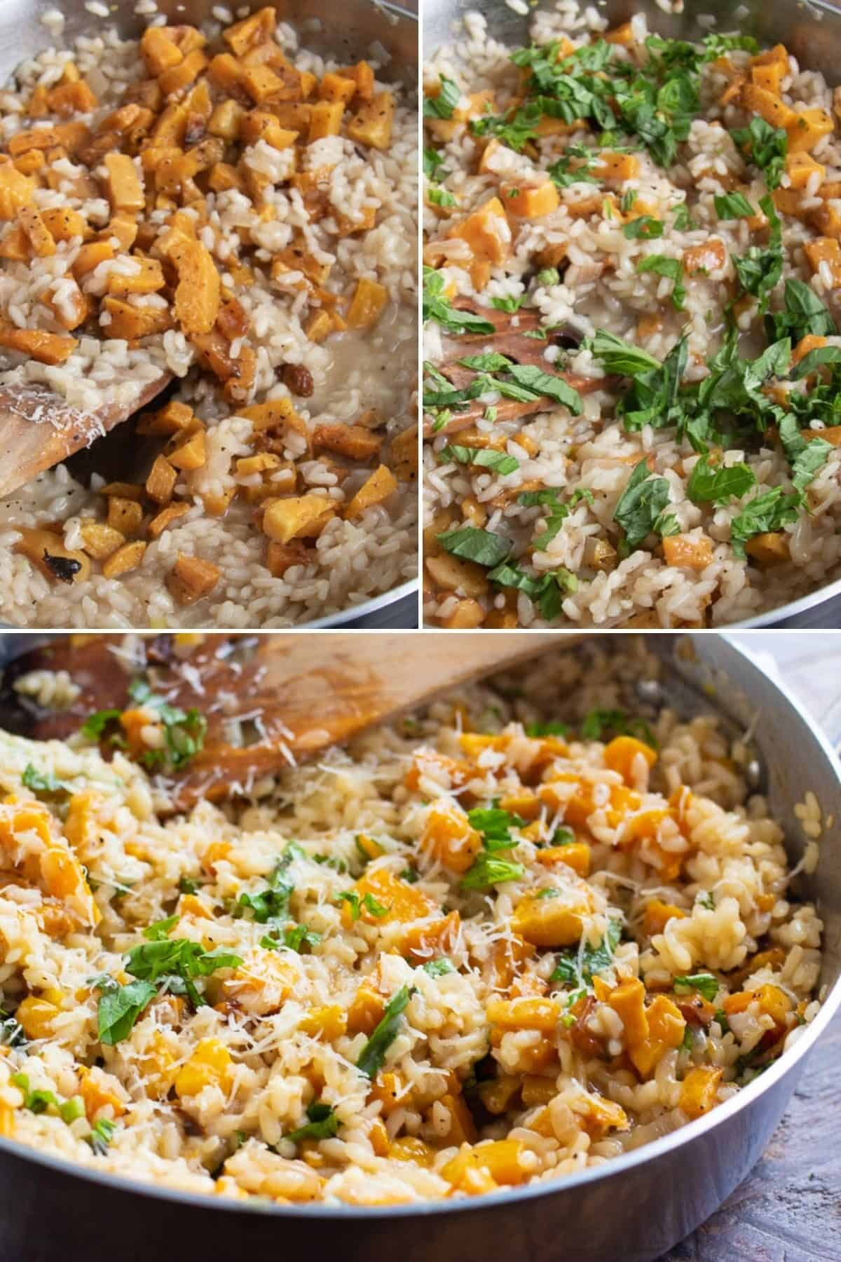 step by step making risotto