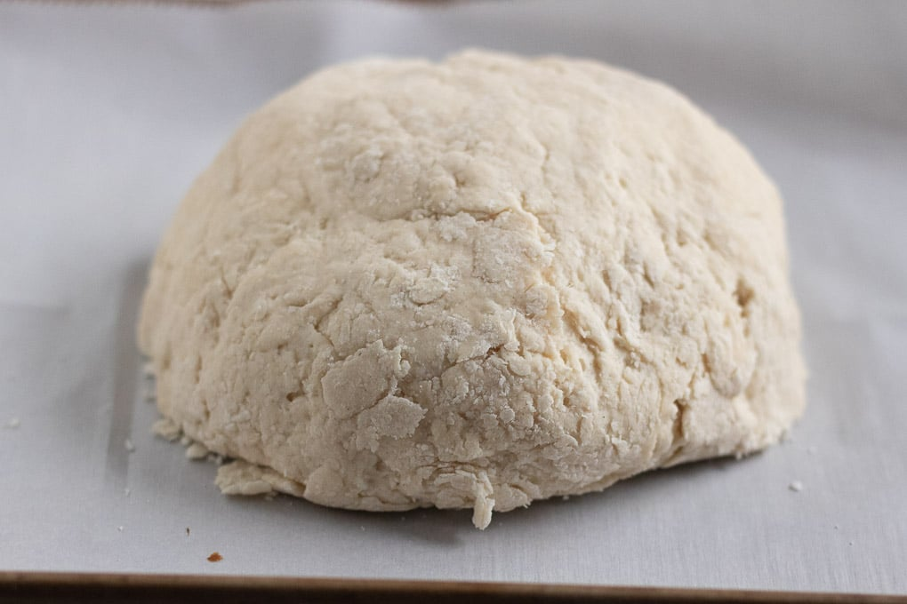 Irish Soda Bread patted into a round shape