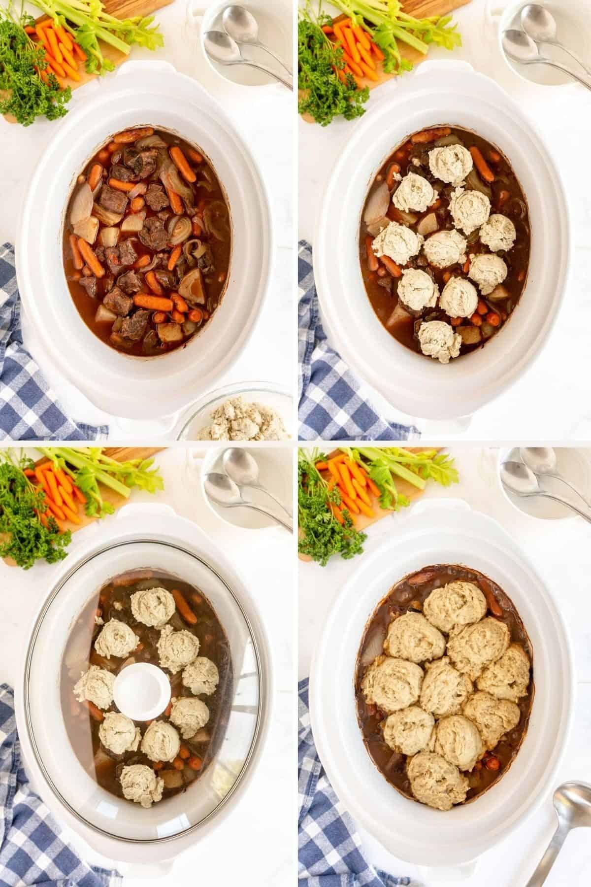 cooking dumplings in a crockpot beef stew