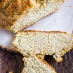Irish Soda Bread with 2 slices cut out