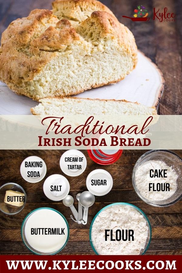 irish soda bread pin with text overlay