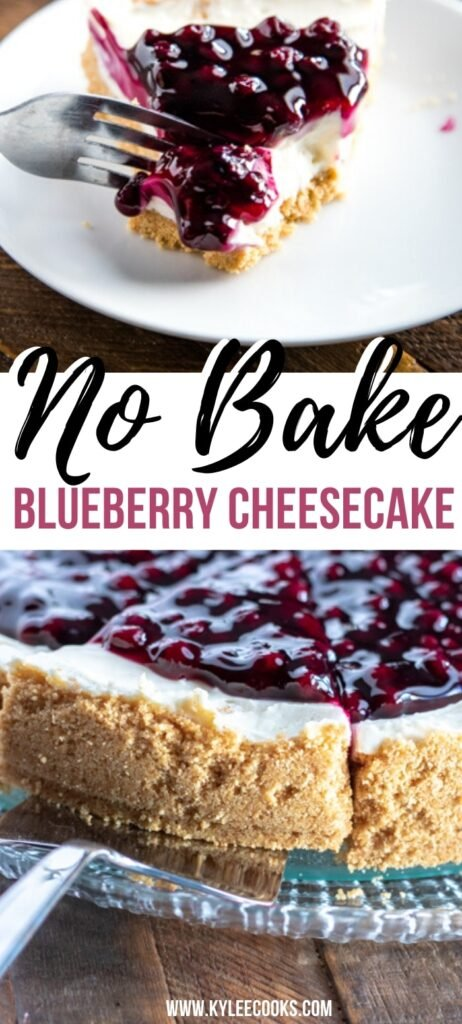 no bake cheesecake pin with text overlay