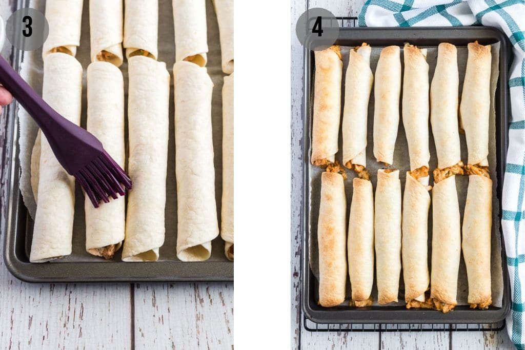 how to make chicken taquitos step by step photos