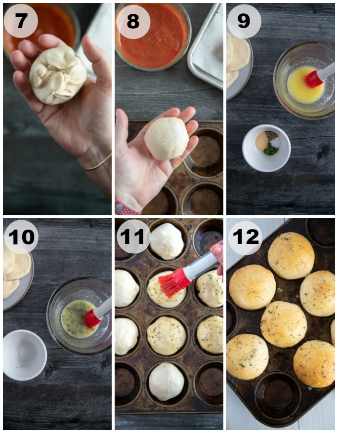 meatball bombs process shots (shaping the dough)