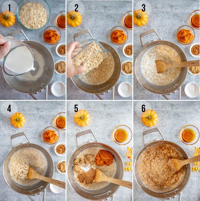 how to make pumpkin oatmeal with step by step instructions