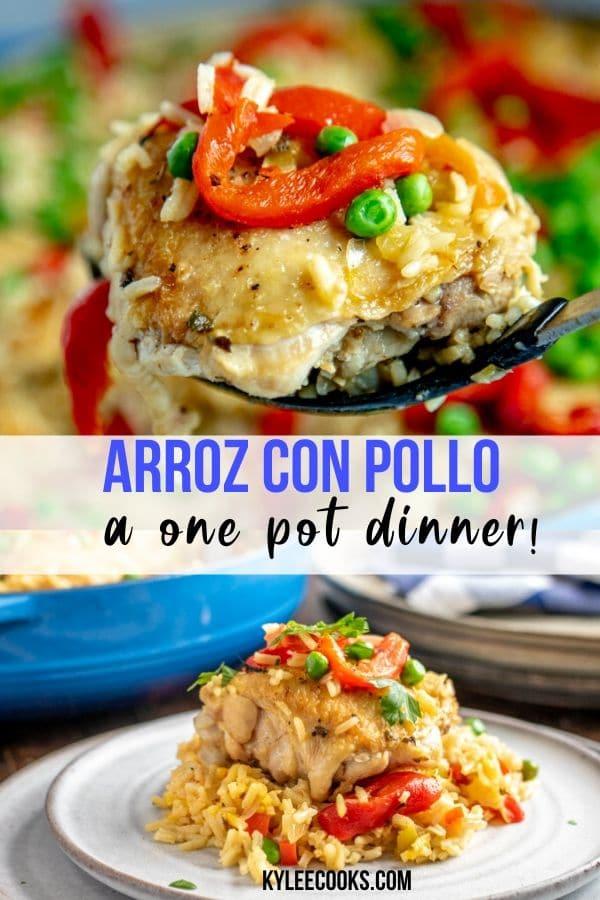 Arroz con Pollo  pin with text overlay