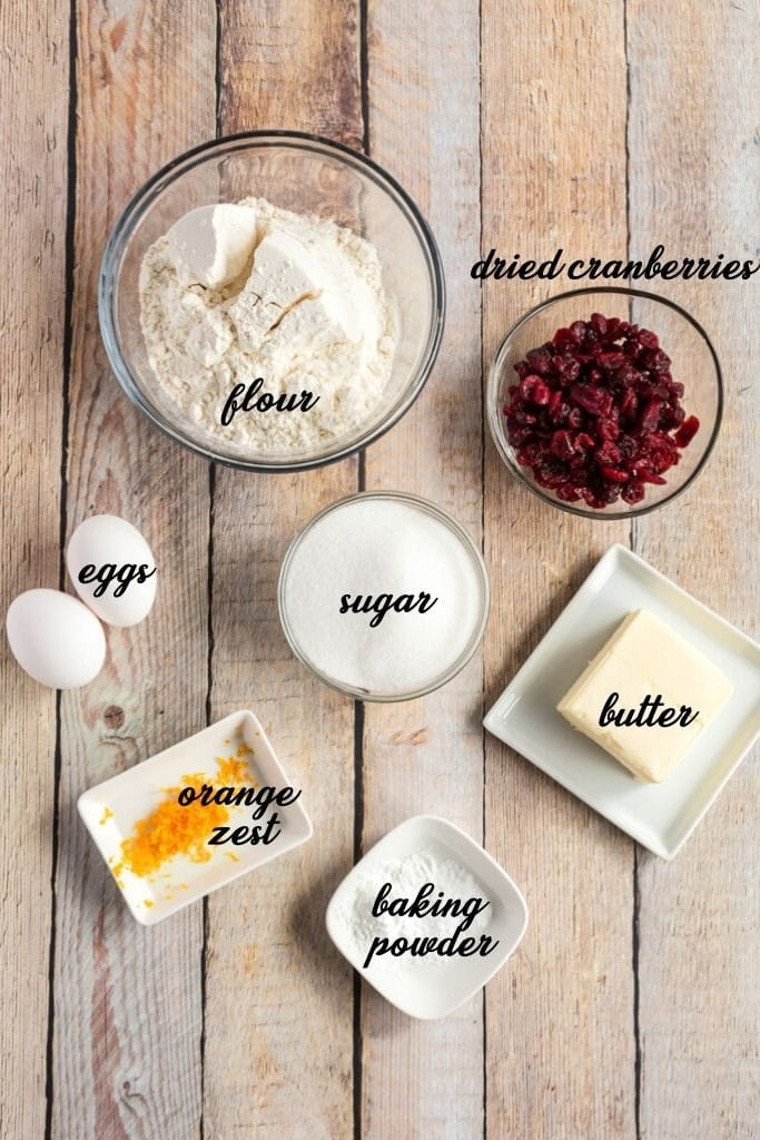 easy biscotti ingredients laid out