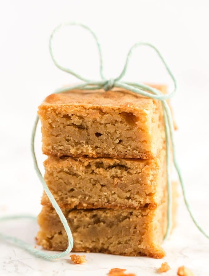 blondies wrapped in twine