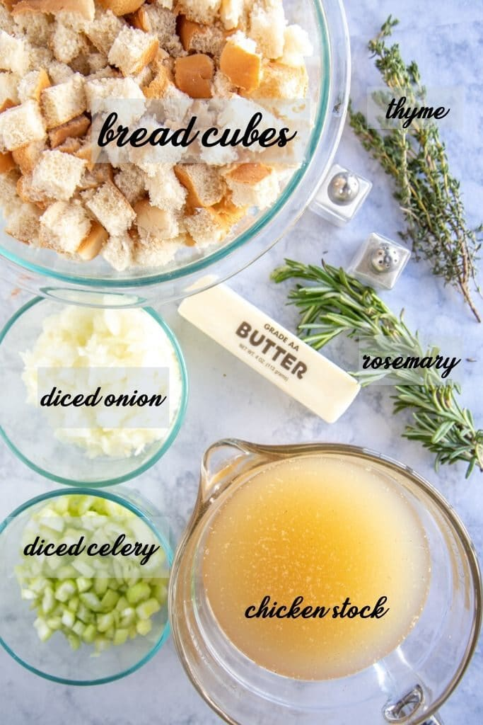 homemade stuffing ingredients