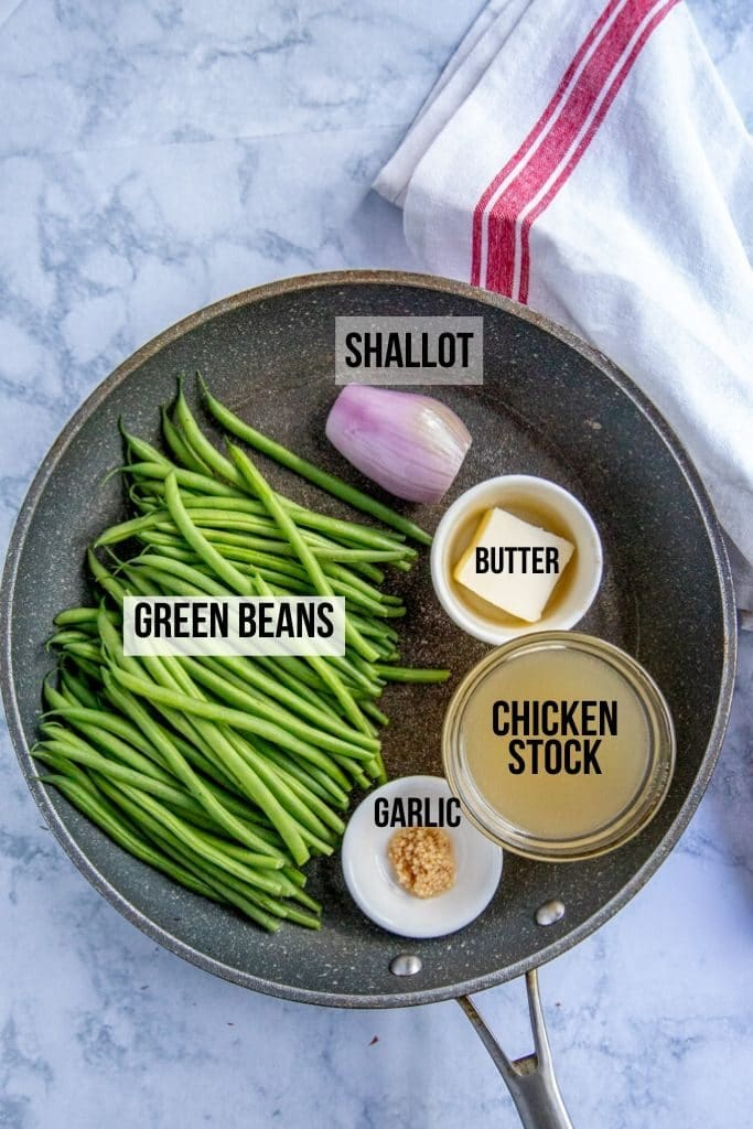 sauteed green beans recipe - ingredients