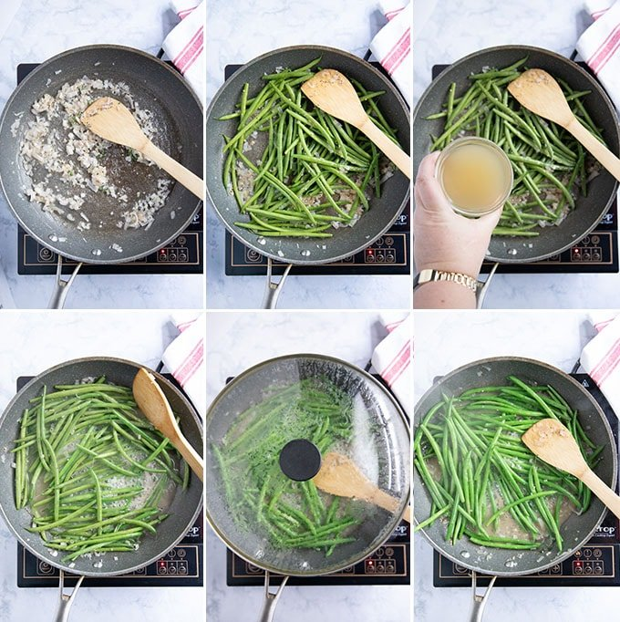 how to cook green beans - step by step