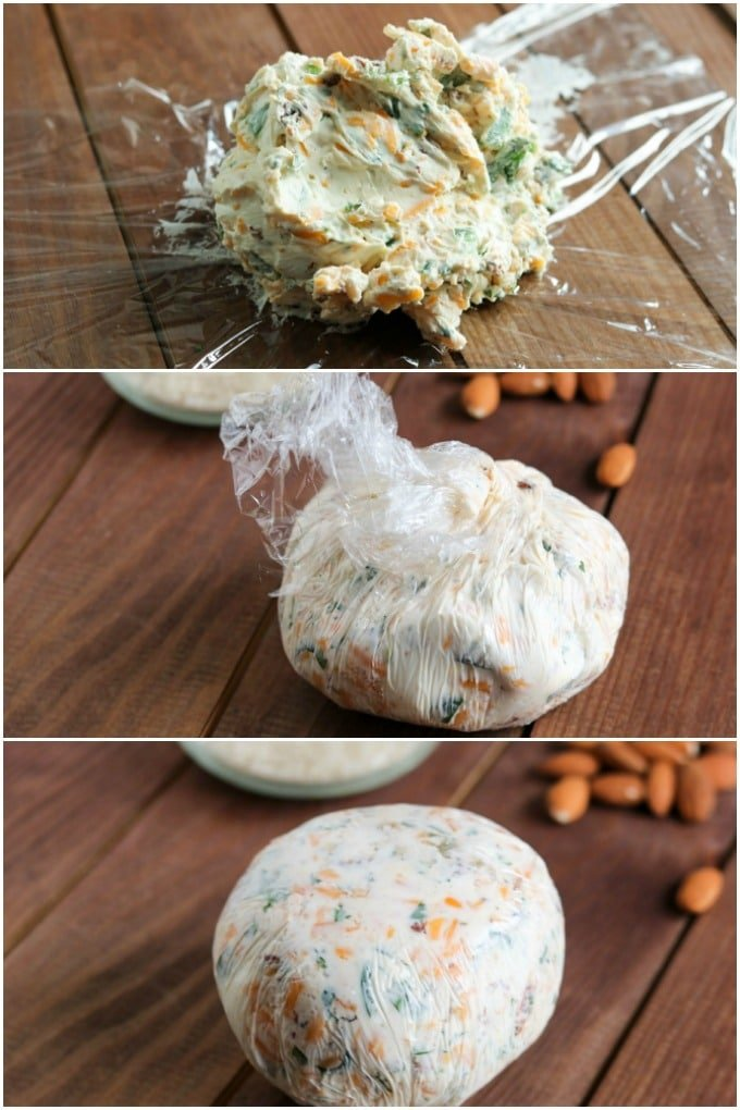 Wrapping a Cheese Ball