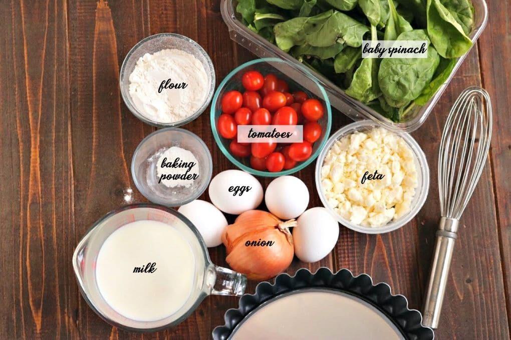 crustless quiche ingredients