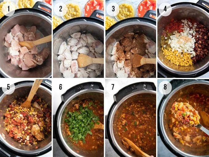 how to make chicken chili in the instant pot