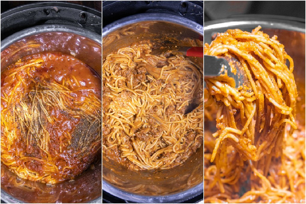how to make spaghetti in the instant pot