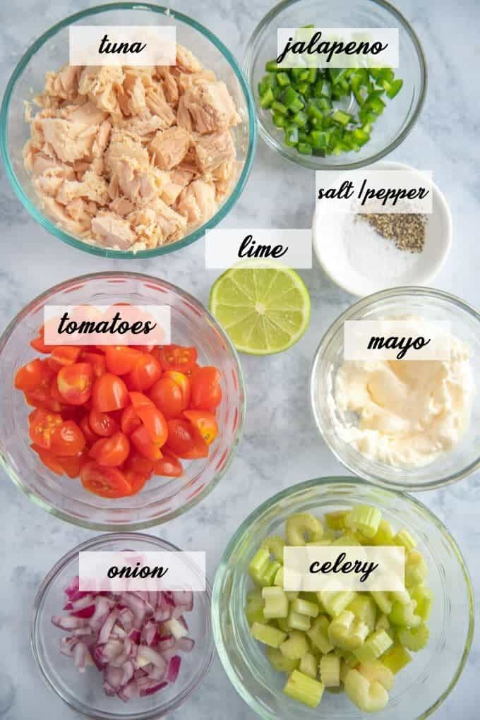 ingredients in tuna salad