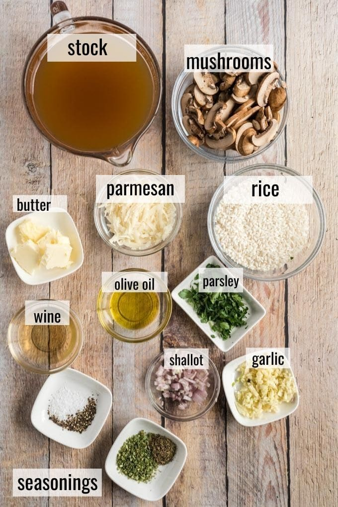 ingredients in Mushroom Risotto