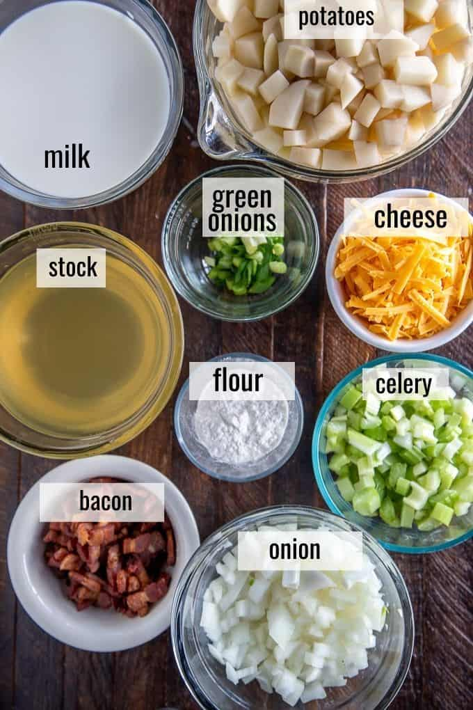 loaded baked potato soup ingredients